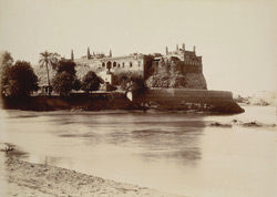 Rohri, Shikarpur District, Sindh. Sathbain Tombs, general view